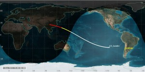 Estimated Chang'e 3 Ground track (click to zoom)