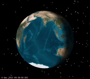 View of Earth at LOI (click to zoom)