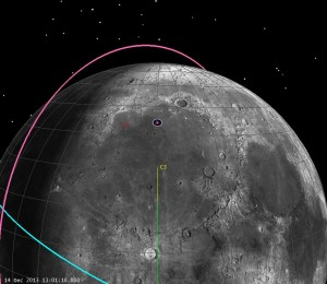 Real Landing Geometry of Chang'e 3, L-10 min (click to zoom)